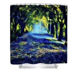 Water And Wind Shower Curtain