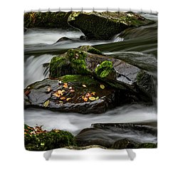 Water Around Rocks Shower Curtain
