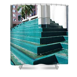 Shower Curtain featuring the photograph Water At The Federl Courthouse by Rob Hans