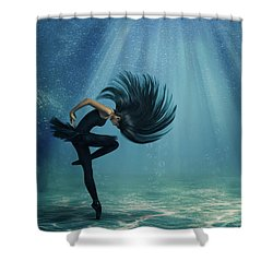 Water Ballet Shower Curtain