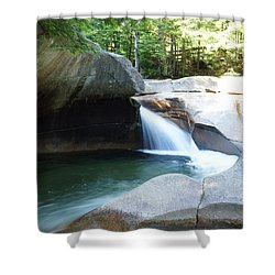 Shower Curtain featuring the photograph Water-carved Rock by Kerri Mortenson
