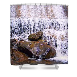 Shower Curtain featuring the photograph Water Cascade by Roberta Byram