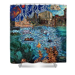 Water City Shower Curtain