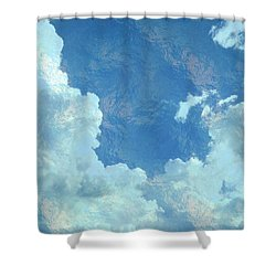 Water Clouds Shower Curtain