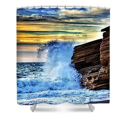 Water Collection Shower Curtain