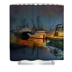 Water Colour Shower Curtain