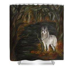 Water Dark Shower Curtain