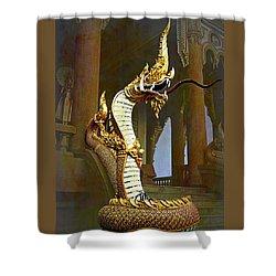 Water Dragon-  Phaya Naga Shower Curtain
