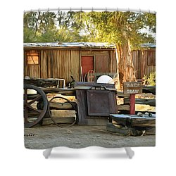 Shower Curtain featuring the photograph Water Draw At Hotel Nipton California By Floyd Snyder by Floyd Snyder