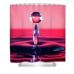Water Drop Balancing Act Shower Curtain