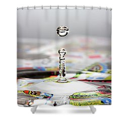 Water Drop Cards Shower Curtain