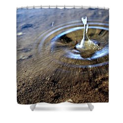 Water Drop Shower Curtain by Leah Mihuc