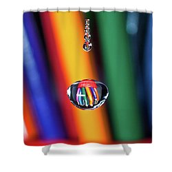 Water Drop Pencils Shower Curtain