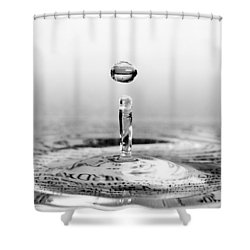 Water Drop Script Shower Curtain