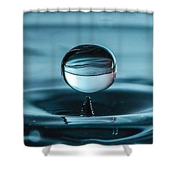 Water Drop With Milk Shower Curtain by Bruce Pritchett