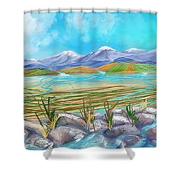 Water For Irrigation  Shower Curtain