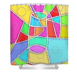 Water Glass Of Light And Color Shower Curtain