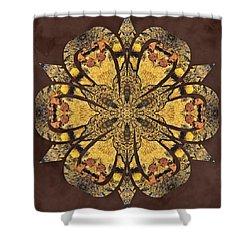 Shower Curtain featuring the mixed media Water Glimmer 1 by Derek Gedney