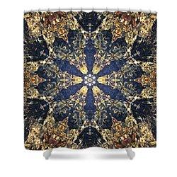 Shower Curtain featuring the mixed media Water Glimmer 3 by Derek Gedney