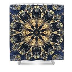 Shower Curtain featuring the mixed media Water Glimmer 4 by Derek Gedney
