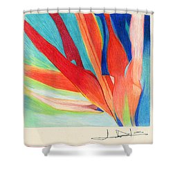 Water Grass Blue Shower Curtain