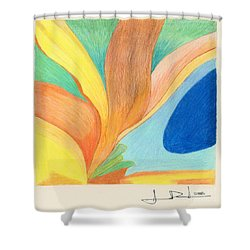 Water Grass Blue Pond Shower Curtain