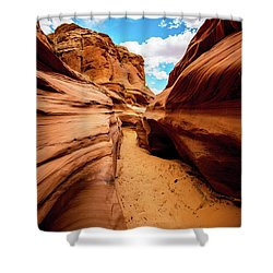 Shower Curtain featuring the photograph Water Holes Canyon Trail by Norman Hall