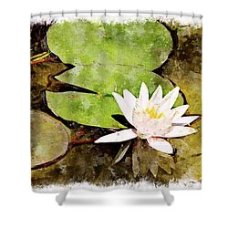 Water Hyacinth Two Wc Shower Curtain by Peter J Sucy