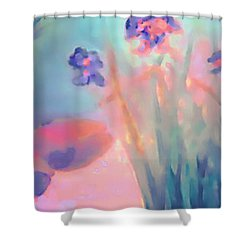 Water Iris Shower Curtain