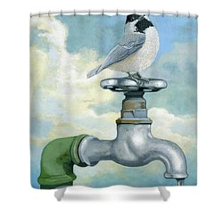 Shower Curtain featuring the painting Water Is Life - Realistic Painting by Linda Apple