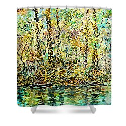 Water Kissing Land Shower Curtain