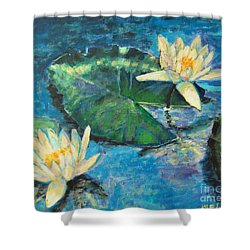 Water Lilies Shower Curtain by Ana Maria Edulescu