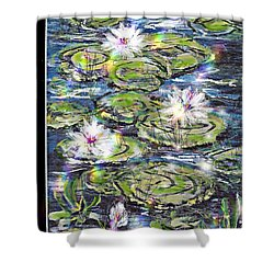 Water Lilies And Rainbows Shower Curtain
