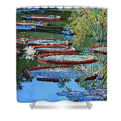 Water Lilies For Amelia Shower Curtain