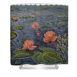 Water Lilies Lounge Shower Curtain by Felicia Tica