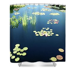 Shower Curtain featuring the photograph Water Lilies by Marilyn Hunt