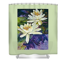 Water Lilies Shower Curtain by Norma Boeckler