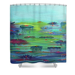 Water Lillies Shower Curtain
