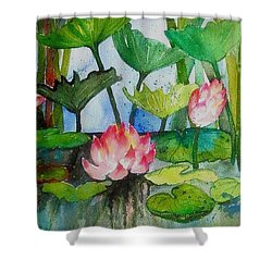 Water Lillies Two Shower Curtain