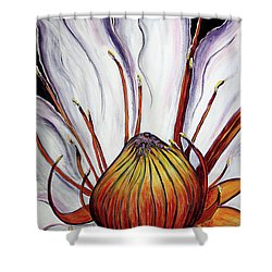 Shower Curtain featuring the painting Water Lilly  by Jolanta Anna Karolska