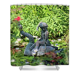 Water Lilly Pond Shower Curtain