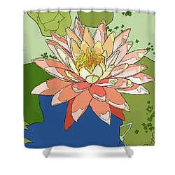 Water Lily And Duck Weed Shower Curtain