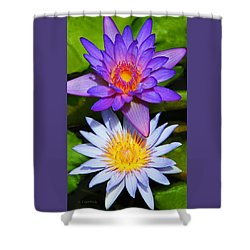 Shower Curtain featuring the photograph Water Lily Blossoms by Kerri Ligatich