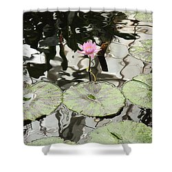 Water Lily Canvas Shower Curtain by Carol Groenen