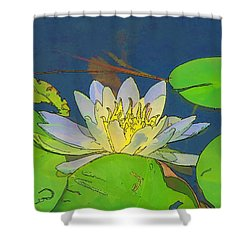 Shower Curtain featuring the digital art Water Lily by Maciek Froncisz