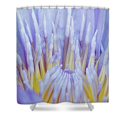 Water Lily Nature Fingers Shower Curtain by Carol F Austin