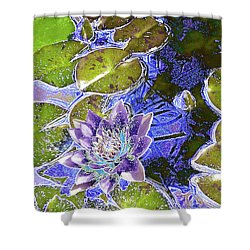 Water Lily Shower Curtain by Robert Ball