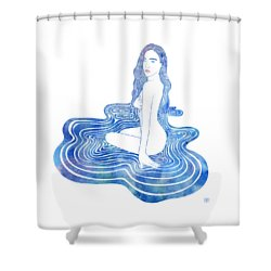 Water Nymph Cii Shower Curtain