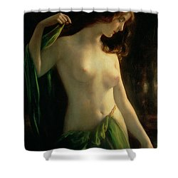 Water Nymph Shower Curtain by Otto Theodor Gustav Lingner