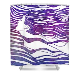 Water Nymph Vi Shower Curtain